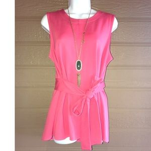 Coral peplum top - The Limited